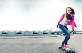 picture showing a young girl skating