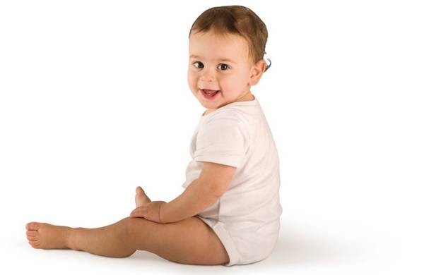 picture showing a baby laughing