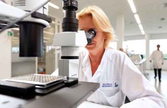 lady scientist working